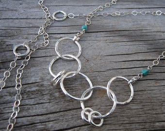 Mama metal / modular jewelry 4-in-1 convertible double clasp sterling silver chain // ready to ship