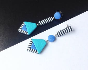 Modern earrings, Gift for her , Stud earrings , Everyday earrings , Geometric earrings, Contemporary earrings, Polymer Clay earrings