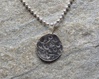 925 Sterling silver disc Pendant Necklace