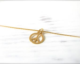 Peace | Necklace | Gold