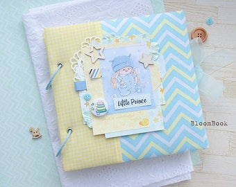 Baby boy memory book, personalized baby book boy, baby boy photo album, newborn keepsake book, baby book boy, baby boy gift, Keepsake Album