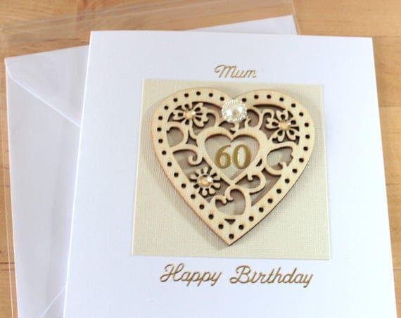 60th birthday card gift 60 60th birthday card mum mom like this item bookmarktalkfo Choice Image