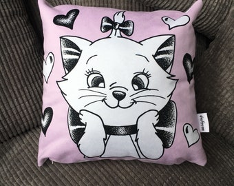 Marie Cushion, Disney Faux Suede Cushion, Aristocats Marie Cushion
