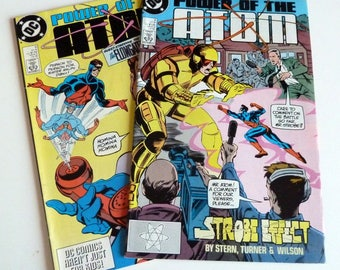 1988 DC Comics POWER Of The ATOM #3 and #5 Near Mint Condition 9.4