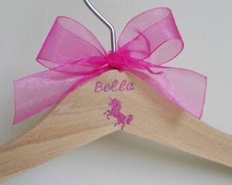 Unicorn Personalised Hanger, Unicorn, Keepsake Gift, Child Hanger, Children's Hanger