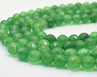 Aventurine Gemstone Faceted Round Green Beads 6mm Natural Healing Stone Chakra Stones for Jewelry Making Item# 789222065690*