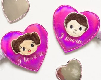 princess leia, princess leia hair clips, star wars inspired, i love you i know, the resistance, the rebellion, girl gang