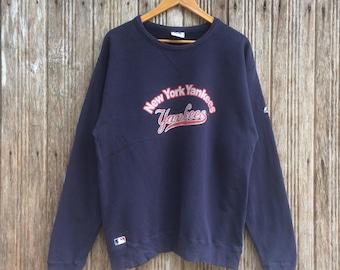 Rare!! New York Yankees Baseball  Sweatshirt Jumper Pullover Nice Design Large size