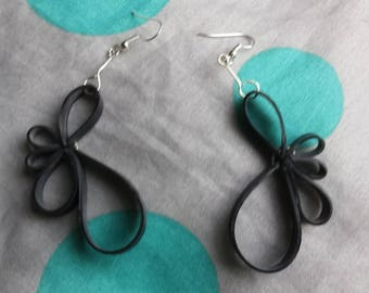 Lotus inner tube earrings