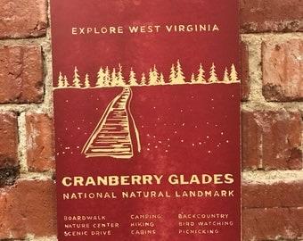 Cranberry Glades Letterpress Print