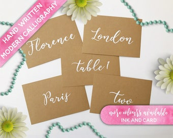 Hand Painted Table names, Calligraphy Table Names, Calligraphy Table Numbers, Custom Table Names, Brush Lettering Table Names, Brush Script