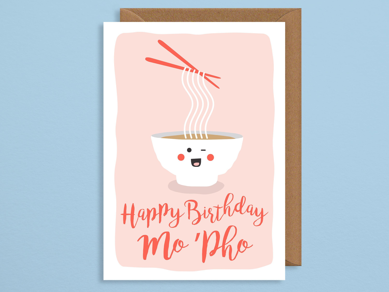 Birthday card funny birthday card cute Happy birthday