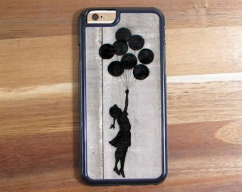 Banksy Floating Balloon Girl Street Art Graffiti Inspired iphone 5 5S 5C Iphone 6 6S 6 Plus Samsung Galaxy S3 S4 S5 S6 Protective Case Shell