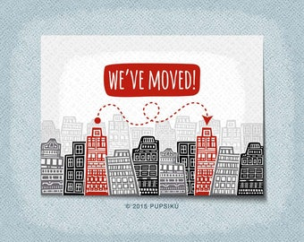 SALE! Pack of 40 Moving Announcement Postcards, 70% OFF!, Mega Clearance, We've Moved, New Address, New Home, Change of Address Postcard