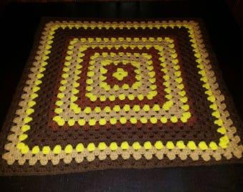 VINTAGE wool crochet doily