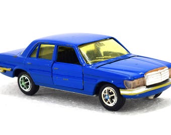 Mercedes -Benz 350 SE W116 Gama Mini Vintage Toy Car scale 1:43 Diecast Blue Color  Made in Germany 70s
