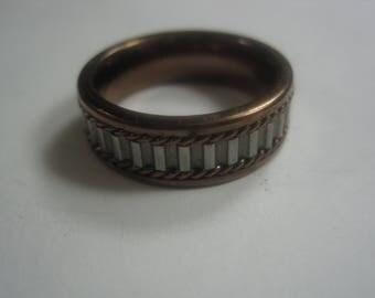 O-24 Vintage  Ring titanium size 10