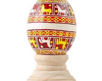 Ispas Real Chicken Eggshell Hand Decorated Ukrainian Easter Egg Pysanky