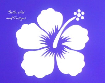 List 5 - Assorted Hibiscus Flower Stencils  (Price is per design/photo)  *Free gift with every order*