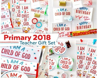 Primary 2018 Teacher Gift Set | I Am a Child of God | LDS Printables
