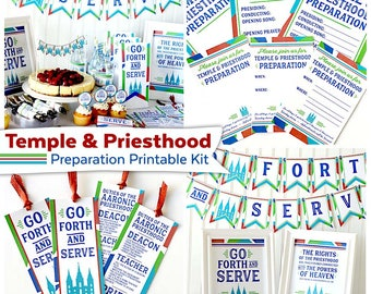 Temple & Priesthood Preparation Printable Kit | LDS Primary Printables | LDS Missionary Kit