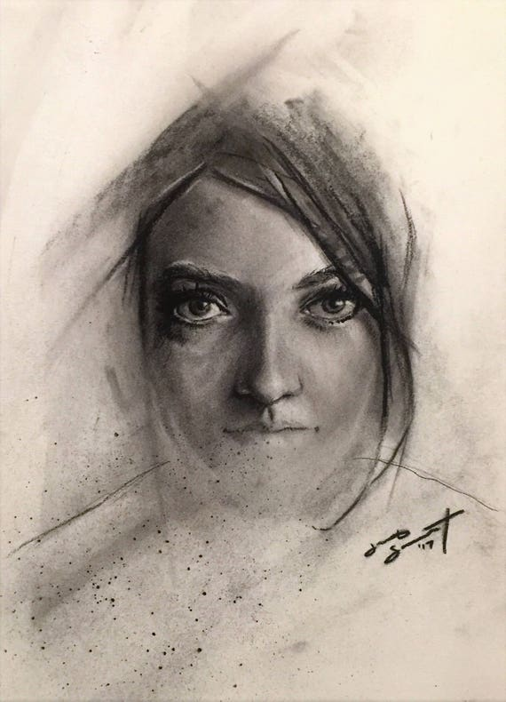 """""""Desires Fade Away"""" - 11""""x8"""" - Charcoal on Paper"""