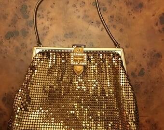 Gorgeous gold sequin little evening purse