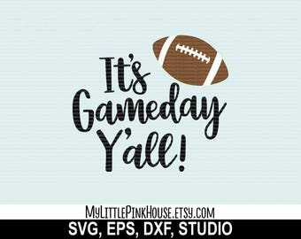 Game Day svg, football svg, silhouette files, svg designs, svg files, svg design, silhouette svg, svgs for Cricut, cricut downloads, dxf