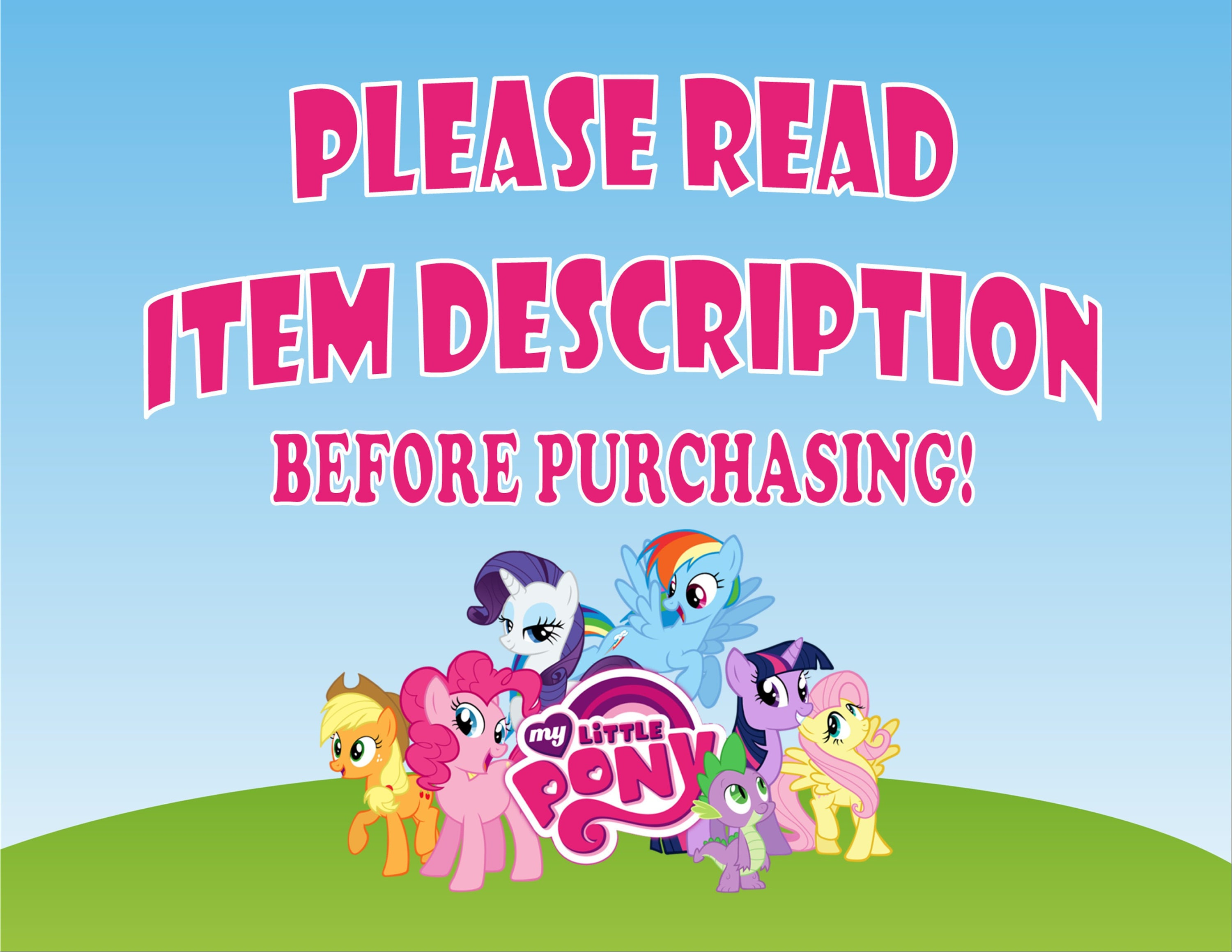 My Little Pony Invitation My Little Pony Birthday My Little