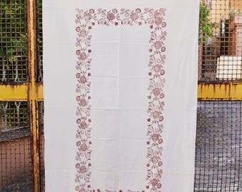 Lightweight floral print beach towel