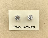 The Perfect Stud Earrings - round cut CZ Cubic Zirconia