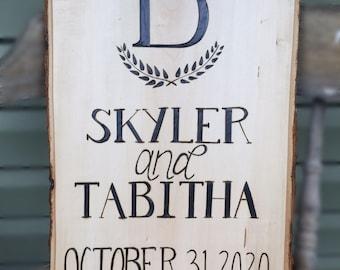 Pyrography Wedding decor sign