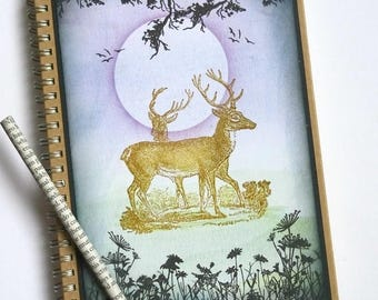 Deer notebook,Deer journal,Stag notebook