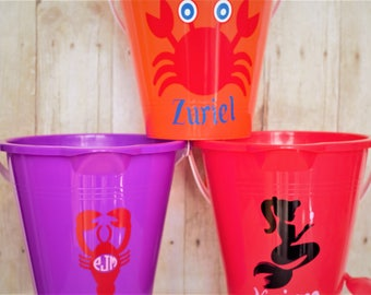Personalized Sand Buckets-Beach Pail-Sand Toys-Sand Bucket-Beach Bucket-Personalized Bucket-Sand Pail-Bubble Wand-Bubble Tubes-Summertime