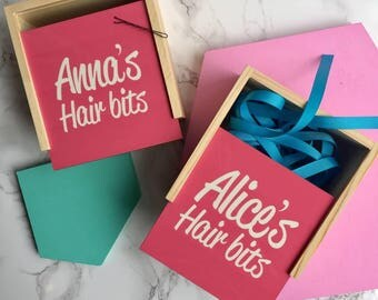 Personalised Hair Accessories Box