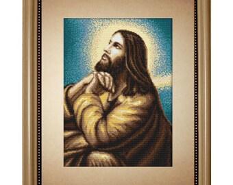 Cross Stitch Kit Jesus's Prayer
