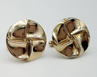 Vintage Men's Gold Tone Cufflinks