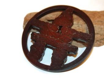Native American Trivet, Inukshuk Trivet, Canadiana, Carved Wooden Trivet, Wood Trivet, Pot Holder, inukshuk wood, inukshuk Sculpture