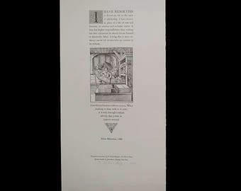 I Have Resolved by Aldus Manutius Letterpress Broadside