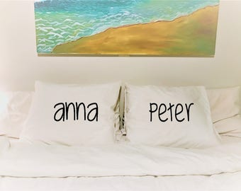 Personalized pillowcases,Couples Pillowcases,Perfect wedding gift,gift for friends!!