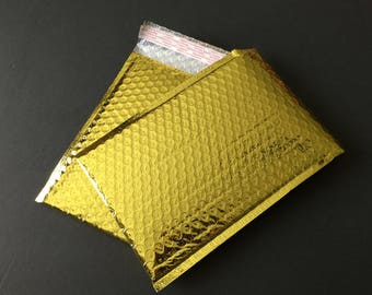 50 6x9 GOLD Poly Bubble Mailers Size 0 Self Sealing Shipping Envelopes Wedding Christmas