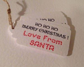 10 From Santa Christmas gift tags