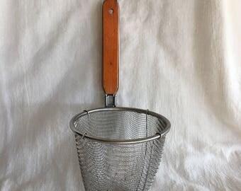 Vintage French Fry Fryer Basket, Deep Fryer Basket