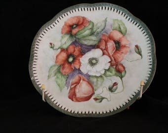 Poppy Plate--Hand Painted