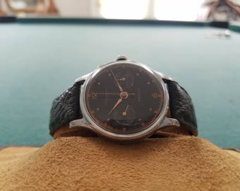 Chronographe Suisse with Black Dial and Rose Gold Markers and Hands