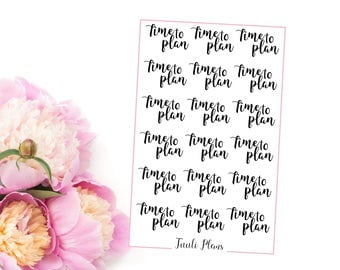 Planner stickers: ''Time to plan'' | Perfect for your filofax / erin condren planner etc