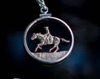 Colonial Horseback Rider Pendant