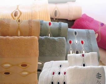 Top Quality Bath Towels 500gsm Ref. Veneza – 3 Pieces Set - Bath Sheet, Hand Towel, Guest Towel – Various Colors