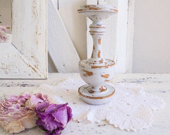 Candle holder candle holder Shabby Chic grey grey unique wood