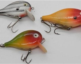 Three Vintage Doll Top Secret Fishing Lures